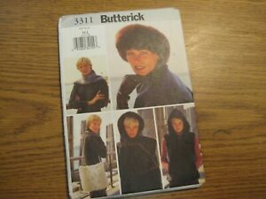 3311 Head Wrap, Scarf, Bag Accessory Butterick Sewing Pattern Misses' One Size