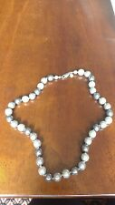 M&S Grey Faux Pearl Uniform Glass Beaded Necklace