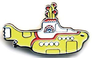 The Beatles Yellow Submarine shaped metal / enamel pin badge. Licensed  (ro)