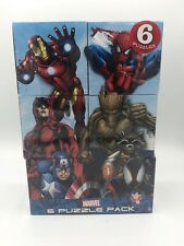 Marvel 6 Pack 48 Piece Jigsaw Puzzles New Factory Sealed Ages 6+