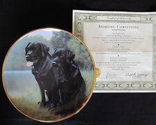 """Sporting Companions"" Plate Coa Lab Labrador Dog Nigel Hemming Franklin Mint"
