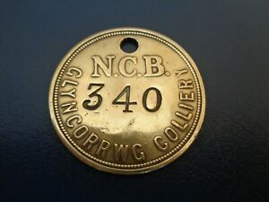 Glyncorrwg Colliery Miners Mining Pit Check Token South Wales Area