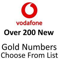 VODAFONE GOLD VIP BUSINESS EASY MOBILE PHONE NUMBER DIAMOND PLATINUM SIM CARD