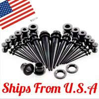 28 pcs Acrylic Ear Gauge Taper Tunnel Plug Expander Stretching Piercing Kit Sets
