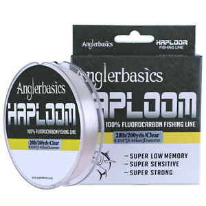 200yds 100% Fluorocarbon Fishing Line Sink Fast Fly Fishing Leader Line Clear