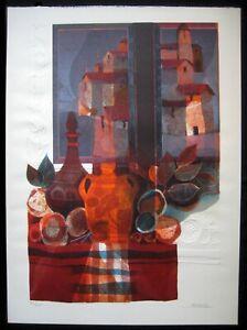 "ALVAR ""Nature Morte a la Fenetre"" Lg. Embossed Original Lithograph on wove paper"