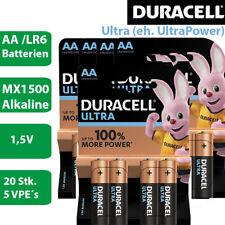 20 x Duracell Ultra Power AA Alkaline Mignon LR6 MX1500 Batterie 1,5V  - 5 x 4er