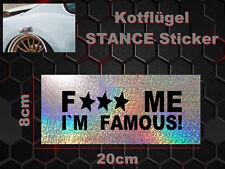 Fuck Me guardabarros Sticker Adhesivo arista guardabarros arista Deep stance Illest