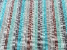 Harlequin Curtain Fabric EZRA 0.8m Spice/Aqua Chevron Stripe VELVET 80cm