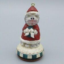 Eddie Walker Santa Cat Christmas Ornament Rubber Stamp Midwest Cannon Falls