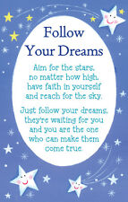 Follow Your Dreams Heartwarmers Keepsake Credit Card & Envelope Gift