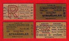 CDRJC County Donegal Railways ~ 4 Tickets from Cavan Halt - Strabane Stranorlar
