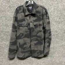 Abercrombie Mens Grey Camo Shirt Jacket Medium