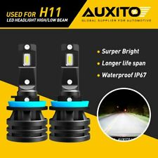 AUXITO H11 H8 LED Headlight Bulbs 6500K for Chevrolet Silverado 1500 2007-2015