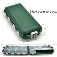 Fishing Tackle Box Fishing Hook 8 Compartment Storage Box Outdoor Fishing Tackle
