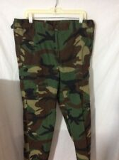 Trousers Woodland Camouflage Combat Pants ~ XLG ~ 38 X 31 ~  Adj. Waist & inseam