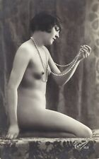 RPPC  1920s  French Risque Nude  FLAPPER  Lady  by Corona