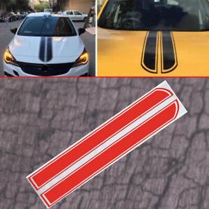 UK Car Van Racing Body Stripe Sticker Decal Vinyl Hood Decoration Red