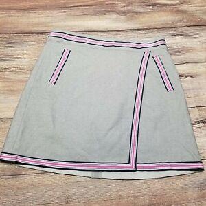 NEW Lady Hagen Womens Size 6 Gray Unwind Overlap Golf Skirt Skort