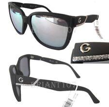 New GUESS GG1128 Black matte/Silver mirror Womens Sunglasses + Case $80