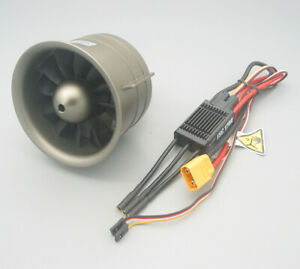 FMS 90mm 12 Blade 1850Kv Special Metal EDF Power Combo For 6S -  Free Shipping !