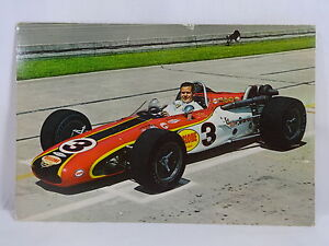 #3 Bobby Unser 1968 Indianapolis 500 Postcard Out of Print New 6x9 Rislone