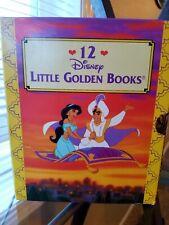 Rare! Aladdin 12 Disney Little Golden Books Walt Disney Boxed 1993 Vintage Mint