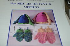 Dawn Brocco Knitting Pattern Jester Hat & MIttens