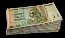 50 x Zimbabwe 20 Billion Dollar banknotes- paper money currency 1/2 bundle