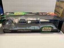 "Star Wars Power of the Jedi B-Wing Fighter Sullustan Pilot 2001 Hasbro 21"" Long"