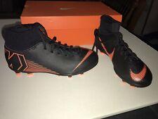 Nike Mercurial Jr Superfly 6 Club Mg Ah7339-081 Black Orange Soccer Cleats 5Y