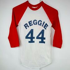 Vintage 80s Reggie Jackson New York Yankees Baseball Shirt 3/4 Sleeve Small #44