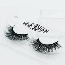 1Pair Luxurious Siberian Mink Fur Messy Thick Eye Lashes 3D False Eyelashes