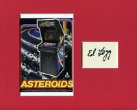 Ed Logg Co-Creating Asteroids Centipede Gauntlet Signed Autograph Photo Display