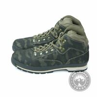 NEW Timberland TB0 A1RC1 015 Men's Euro Hiker Boots in Black / Camo Fabric - 14