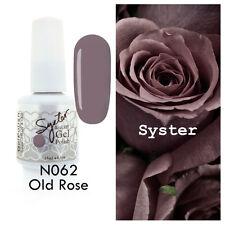 SYSTER 15ml Nail Art Soak Off Color UV Lamp Gel Polish N062 - Old Rose