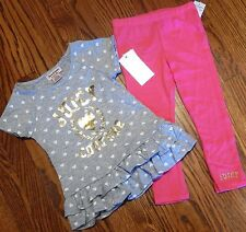 JUICY COUTURE TODDLERS/KIDS GIRLS BRAND NEW 2Pc DRESS LEGGINGS SET Sz 4T, NWT
