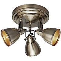 Deckenleuchte Deckenlampe Metall Messing antik 3x E14 max.40W 230V  MARK SLÖJD