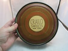 Vtg art deco Crailo Sweets litho tin candy box. New York. Federal Tin Co. can