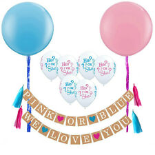Gender Reveal Baby Shower Party Decorations, Boy or Girl Unisex Banner,He or She