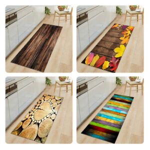 Wood Letter  Balcony Floor Bath Mat Rugs Doormat Non Slip for Bathroom Kitchen