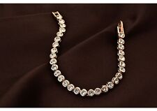 Pulsera de tenis brazalete pulsera 18k Rosegold transacci. 17 cm cristales idea de regalo