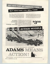 1958 PAPER AD Adams Action Toys Atomic Cannon Firing Fleet Line Cabin Cruiser