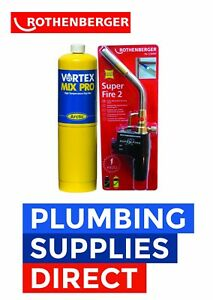 Rothenberger Super Fire 2 Blow Brazing Torch & Mapp Gas Plumbing - Soldeing
