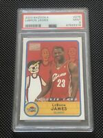 2003 Bazooka Basketball LeBron James ROOKIE RC #276 PSA 9