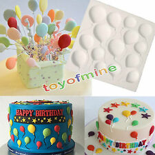 BALLOONS Silicone Fondant Mould Cake Decor Sugar Icing Gum Paste Chocolate Mat