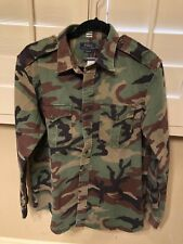 NWT RALPH LAUREN BUTTON FRONT CAMO / CAMOUFLAGE MILITARY SHIRT LONG SLEEVE  L