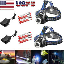 900000Lumens T6 LED Zoomable Headlamp Rechargeable 18650 Headlight Head Lamp USA