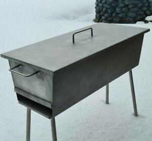 Edelstahl Deckel für Grill Schaschlik-Grill Mangal Abdeckung für Grill