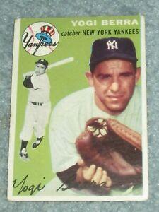 1954 Topps Baseball #50 Yogi Berra Yankees VG No Creases